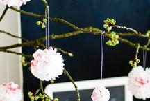 flowers / crepe papier