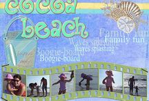 Scrapbooking layouts, beach