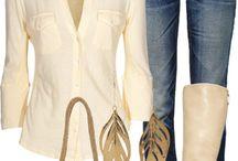 Cream button down long sleeve