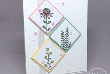 Stamping up cards
