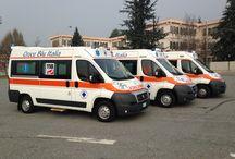 Automezzi / Le nostre ambulanze e i nostri pullmini per trasporto disabili