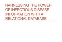 What can you do with IDdx? / IDdx is a relational database of 250 infectious diseases. You can find them by name or category, or by queries to find all diseases that match one or more criteria. Criteria include signs & symptoms and epidemiological factors.