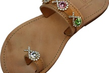 Sandals flat / Handcrafted leather womens sandals embellished with Swarovski crystals