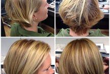 Blond med variation / Här visar jag före- och efterbilder där jag färgat till olika fräscha blonda nyanser.