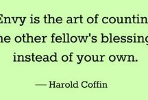 """The Love Quotes Jealousy Quotes : """"Envy is the art of counting the other fellow's blessings instead of yo…"""