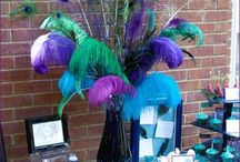 Peacock centerpiece.