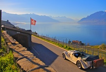 Montreux Riviera in a Morgan Cabriolet / Discover Montreux Riviera with the wind in your hair riding in a Morgan convertible!