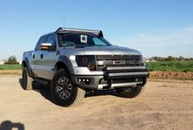 Roush Raptor / Ford Roush Raptor we just finished up, custom headlights, LED Bar Light.
