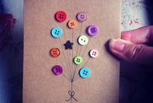 greeting cards - buttons / Greeting cards that use buttons in a cute way.