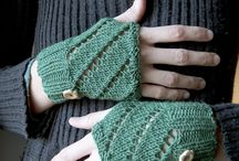 knitting gloves, socks