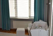 turquoise gray baby room - nursery room / by Hayal Mutlu