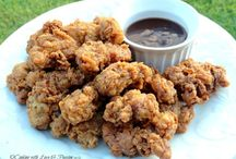 Deep fried chick gizzards