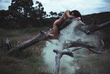 Natur, Nude & Smoke / Eine Shooting Idee