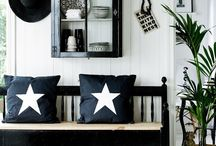 Black and white home decoration