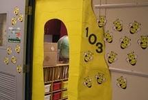 bee themed doors