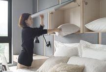 Bedroom storage feature