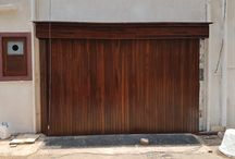 wooden garage gate