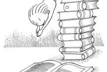 Lezen en kleuren / Kleurplaten over lezen en prentenboeken
