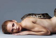 girl & snake