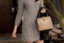 Платья вязан.