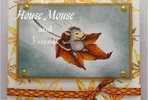 Autumn mice & bunnies having fun