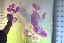 Fiori viola e blu