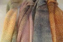 Fashion/ Dressy Scarves / Hand-knitted  Scarves / by designbyelena