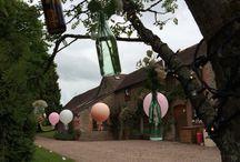 Birtsmorton court hall worcestershire wedding / Beautiful wedding of pastel flowers, lanterns and giant balloons in the stunning Birtsmorton court Malvern Worcestershire