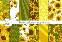 Sunflowers & Daisies / Sunflowers, Daisies and Crafting / by Mygrafico Digitals
