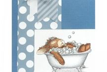 Happy Hopper Card Samples / Handmade cards using Stampendous Happy Hopper Stamps