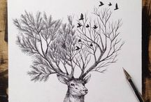 Konst teckningar