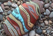 Stone Art / Painted stone, stone art