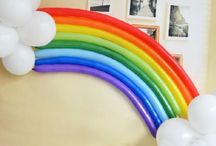 Rainbow Sunshine Party Ideas / Ideas for a rainbow sunshine birthday party. Good for toddlers, children and grown ups!!
