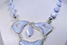 Blue Lace Agate handmade Jewelry