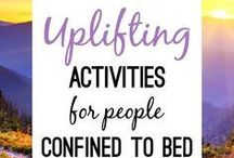 Activities ideas for people confined to bed