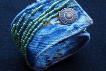 Fabric/Denim Bracelets