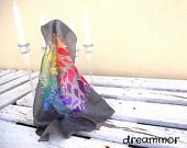 mandala pañuelo seda / silk scarves / pañuelos de seda pintados a mano silk scarves hand painted