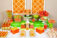 Citrus Inspired Party / The heat is on! What better way to celebrate than with a refreshing citrus theme party! Pink, orange, yellow and green color palette set a bright and cheery tone for a summer soiree!