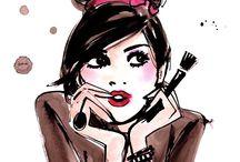 beautiful girls makeup dibujo