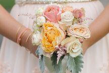 kwiaty na ślub - pomarańcze i łososie