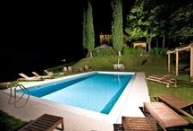 Swimming pool Lake Garda view Villa Sostaga / The swimming pool of Villa Sostaga offers a magnificent view on Lake Garda / by Boutique Hotel Villa Sostaga