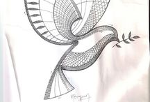 Lace - Birds / Bobbin Lace