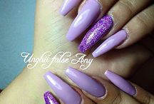 Nails purple