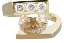 14k Yellow gold oval morganite and round cut diamond ring semi tension 2.00cw