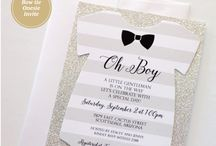 bowtie themed baby shower
