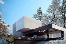 Contemporary Modern Houses / Modern and minimalist architecture elements.