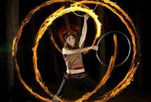 Fire Hooping and Dance / We love adding the element of fire to flow.
