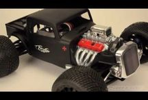 Pro-Line Racing Rat Rod Body / The #prolineracing Rat Rod body creation was first released for the 1:16 #E-REVO class and was featured on one of the most viewed YouTube videos in Pro-Line history. Pro-Line wanted to improve on the design and provide a low profile hard top Roadster with a large front grill and round head lights – perfect for impressing your friends. Be the first to have your own custom Pro-Line Rat Rod body for RC - Get yours today!