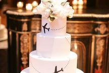 wedding cake - travel theme