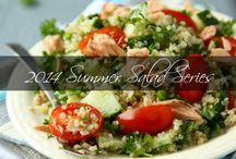 2014 Summer Salad Series / Starting Monday, June 23rd, you can get a deliciously healthy, easy-to-make salad recipe emailed directly to your inbox…all summer long! That's 13 straight weeks of culinary creations that you and your whole family will LOVE. This year, I've enlisted the help of my chef friend, *Nancy Lowell of Chef's Last Diet. With Nancy's help, we've created some culinary masterpieces that will be easy for you to make in your own kitchen.